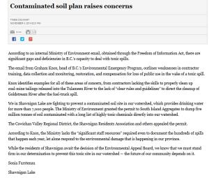 Times-Colonist Letter November 4 2014