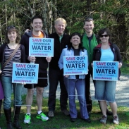 save shawnigan water blue dot day