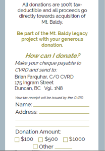 baldy donation form