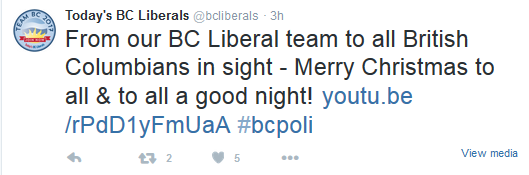 bc liberals christmas message
